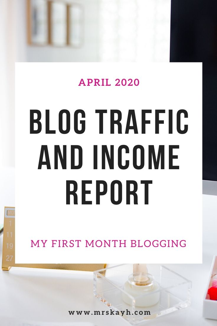 This is my first *official* month of blogging, and I am super excited about tracking my blog traffic and income with these reports! Here is my first blog traffic and income report. Hope you enjoy and can follow this experience.